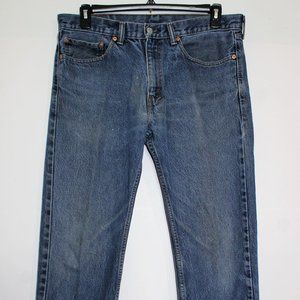 Levi's 505 Relaxed Fit Blue Jeans W:34 x L:34